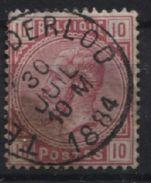 N°38 Obl. Sc TESSENDERLOO. Coba 15€. - 1883 Leopold II