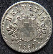 Switzerland 10 Rappen 1850 BB XF/UNC - Billon - Switzerland