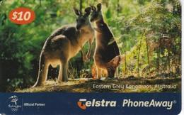 TARJETA DE AUSTRALIA DE UNOS CANGUROS  (CANGURO-KANGAROO) - Phonecards