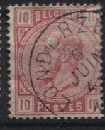N°38 Obl. ScLONDERZEEL. Coba 15€. Petite Fente Coin Sup Droit - 1883 Leopold II