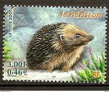 Timbre Neuf 3383 France 2001 Nature De France Faune Hérisson - Unused Stamps
