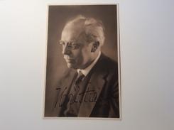 Karl Straube (1873-1950) German Musician, Organist Autograph Signed Picture Of 1937 (autogramm Thomanerchors Music Musik - Autogramme & Autographen