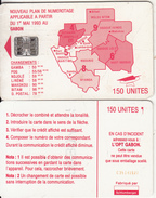 GABON - Red Map, Third Chip Issue 150 Units(reverse B-with Moreno Logo), Chip SC7, CN : C35141527, Used - Gabun