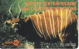 TARJETA DE LA REPUBLICA CENTROAFRICANA DE UN ANTILOPE (CIERVO-DEER) - Central African Republic