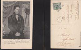 12641) GIULIO CESARE ABBA SENATORE DEL REGNO LETTERATO SCRITTORE VIAGGIATA 1913 - Personaggi Storici