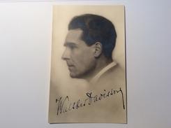 Walther Davisson (1885-1973) German Violonist & Conductor Autograph Signed Picture (Autogramm Music Musik - Autogramme & Autographen