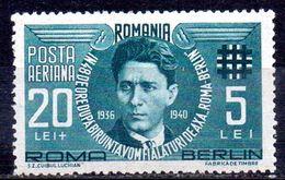 RUMANIA. AÑO 1946.  AEREO Yv 31 (MH) - Aéreo