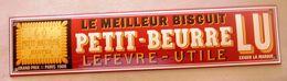 Plaque Emaillée LU - Advertising (Porcelain) Signs
