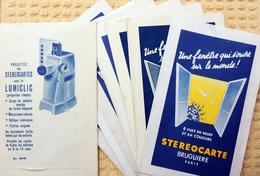 BRUGUIERE - Lot De 10 Pochettes Verso Lumiclic En Bon état - Stereoscopic