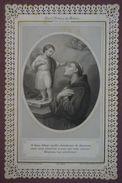 """Image Pieuse, Bordure Légèrement Ajourée Type """"canivet"""" Mécanique - Saint Antoine De Padoue - Fête Le 13 Juin - Images Religieuses"""