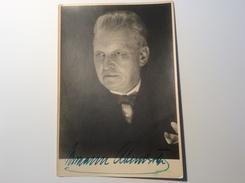 Hermann Abendroth (1883-1956) German Conductor Autograph Signed Picture Of 1955 (Autogramm Music Musik - Autogramme & Autographen