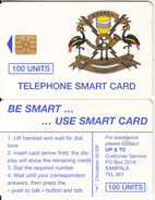UGANDA - Telecom Logo 100 Units, Tirage %50000, Chip GEM1.1, Used - Uganda