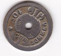 JETON 10 Centimes  à Consommer JG  Jeu De Comptoir , Machine à Sous ,necessité  2 Scans - Monétaires / De Nécessité