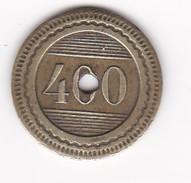 JETON 10 Centimes  à Consommer 400  Jeu De Comptoir , Machine à Sous ,necessité  2 Scans - Monétaires / De Nécessité
