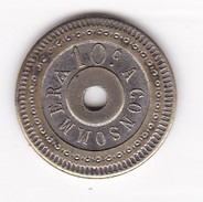 JETON 10 Centimes  à Consommer   Jeu De Comptoir , Machine à Sous ,necessité  2 Scans - Monétaires / De Nécessité