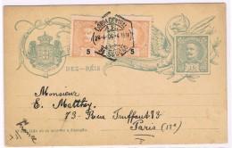 Portugal, 1906, Bilhete Postal Lisboa-Paris - Enteros Postales