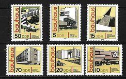 ALEMANIA ORIENTAL 1980 BAUHAUS SERIE COMPLETA - [6] Democratic Republic