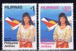 RP+ Philippinen 1991 Mi 2006-07 Mnh Stewardess - Philippinen