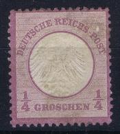 Germany Mi Nr 1 MH/* Falz/ Charniere  Kleinem Brustschild 1872 - Ungebraucht