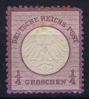 Deutsche Reich Mi Nr 1 MH/* Falz/ Charniere Kleinem Brustschild - Ungebraucht