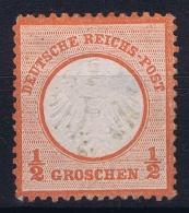 Deutsche Reich Mi Nr 3 MH/* Falz/ Charniere  Part Gum Has A Thin Spot - Ungebraucht