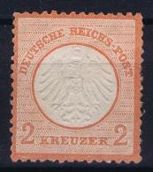 Deutsches Reich: Mi Nr 8 MH/* Falz/ Charniere Papier Auf Ruckseite - Deutschland