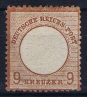 Deutsches Reich: Mi Nr 27 C Braun Brown Not Used (*) SG - Ungebraucht