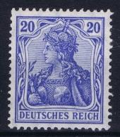 Deutsches Reich: Mi Nr 87Id MH/* Falz/ Charniere  Hellultramarin  Fr Dr - Deutschland