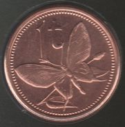 PAPUA NEW GUINEA 1 Toea 2004 Birdwing Butterfly PAPILLON KM# 1 - Papuasia Nuova Guinea