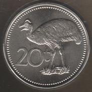 PAPUA NEW GUINEA 20 Toea 2005 CASOAR BIRD OISEAU  KM# 5a - Papouasie-Nouvelle-Guinée