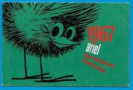 Calendrier Petit Format ARIEL Discrètement Mentholée 1967 * Tabac - Calendriers