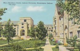 Indiana Bloomington Men's Residence Center Indiana University Curteich - Bloomington