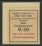 FRANCE 1968 - GREVES DES PTT - CORSE** - COURRIER COMMERCIAL - Grève