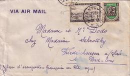 ALGERIE - ORAN-RP-AVION ORAN - LE 4-9-1951 - ENVELOPPE POUR L'ALLEMAGNE ZONE OCCUPATION FRANCAISE - Covers & Documents