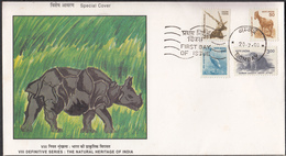 INDIA, 2000, Definitive, Definitives, FDC, Natural Heritage, Fauna ,set 4v, BOMBAY Cancellation. - FDC