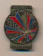 Badge (fixation épingle) - AUDAX CLUB PARISIEN - 40eme Flèche Velocio - PUYRICARD 1986 - Cyclisme