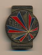 Badge (fixation épingle) - AUDAX CLUB PARISIEN - Flèche Velocio - CRILLON LE BRAVE 1985 - Cycling