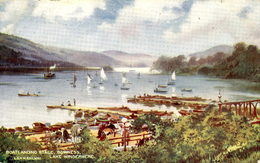 LONDON & NORTH WESTERN RAILWAY OFFICIAL - BOATLANDING STAGE, BOWNESS - Cumberland/ Westmorland