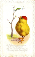 EASTER - 2 POSTCARDS OF CHICKS BY REG MAURICE - Easter
