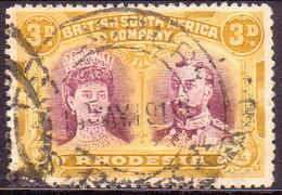 RHODESIA 1910 SG #135 3d Purple And Yellow-ochre Perf.14 CV £22 - Südrhodesien (...-1964)