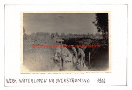 1906 Werk Waterlopen Na Overstroming - Moerzeke - Places