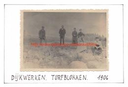 1906 Dijkwerken Turfblokken - Moerzeke - Places