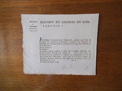ELECTION DU CHATEAU-DU-LOIR PAROISSE D EXERCICE 17    CORVEE FORMULAIRE JACQUES-JEAN COURCITE ARRET DU 6 NOVEMBRE 1786 - Historische Dokumente