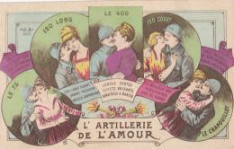 Carte Illustrée - L'Artillerie De L'Amour( Le 75, 120 Long, Le 400, 120 Court, Le Crapouillot) Chacun A Ces Qualités - Humor