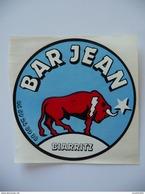 AUTO-COLLANT - Bar Jean à BIARRITZ- Le Taureau 9 Cm De Diam. - Adesivi