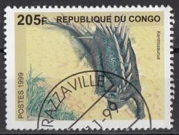 1671 CONGO 1999 - BRAZZAVILLE - Prehistoric Animals. Dinosauri - Kentrosaurus Used - Congo - Brazzaville