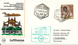 Spain First Lufthansa Boeing 727 Flight Cover Palma De Mallorca - Frankfurt 1-4-1965 - 1961-70 Lettres