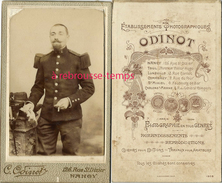 CDV Soldat Du 2e Régiment Photographie Odinot à Nancy - Guerre, Militaire