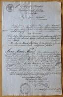 Extrait D'acte De Naissance (1793). Fille De Jean Pierre Joseph Fournel De Ronvaux, émigré. Boppard, 1826 - Documentos