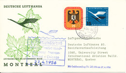 Germany First Lufthansa Flight Cover Hamburg - Montreal 27-4-1956 - [7] Federal Republic